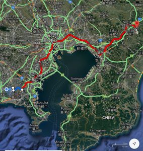 Map from Narita to Yoda
